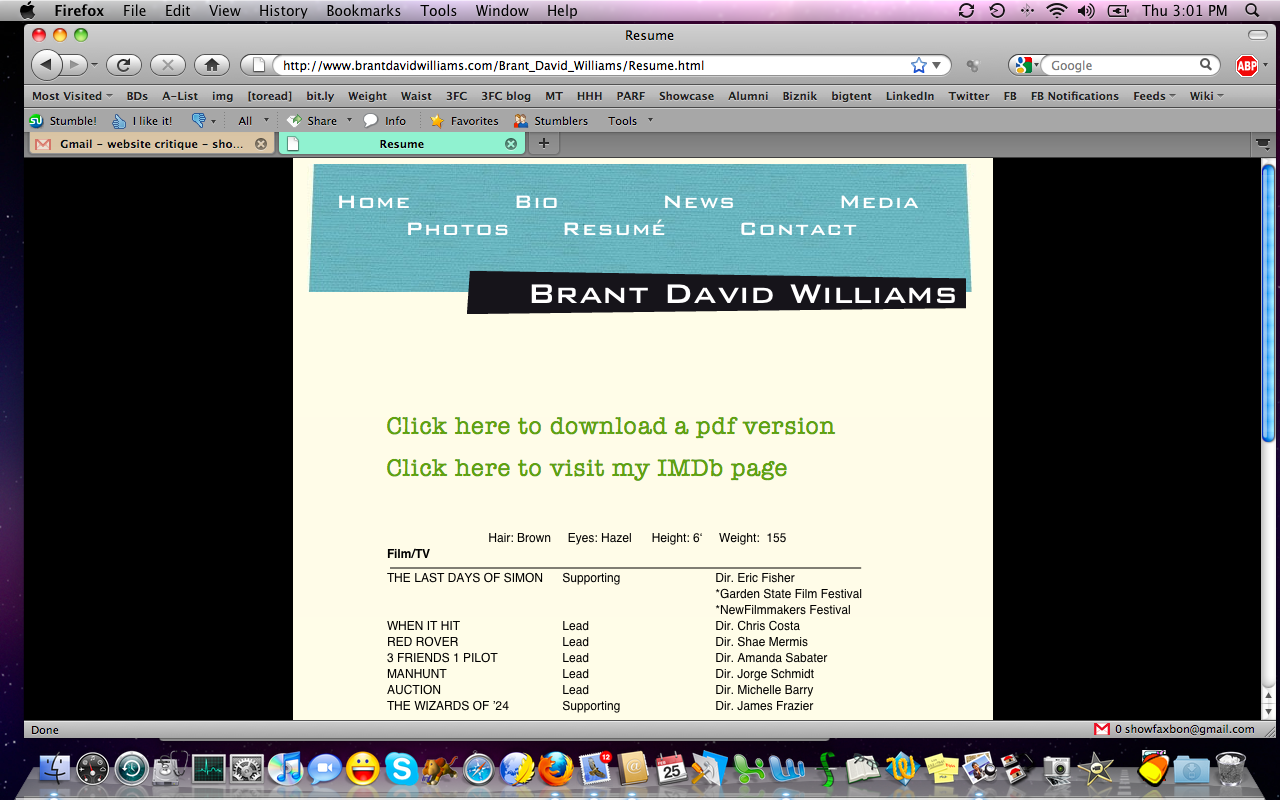 Critiques: Your Websites