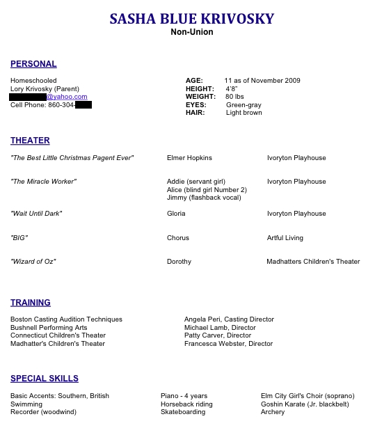 Cv Resume Cv Resume Date Of Birth