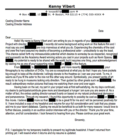 bad cover letters good cover letters - Talent Agency Cover Letter